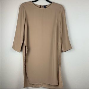 • Forever 21 • Tan Ao Dai Style Side Split Tunic